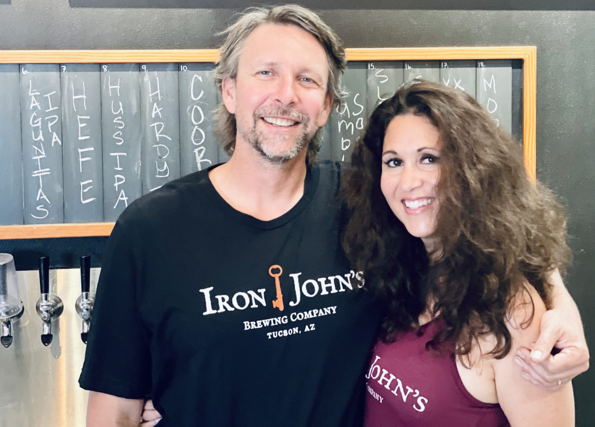 Chris and Rose Faitsch the faces of tucson AZ Iron Johns brewing